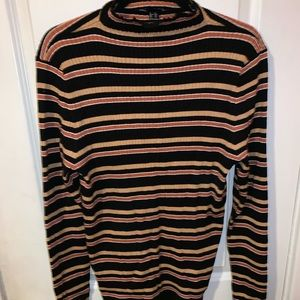 Turtleneck striped sweater